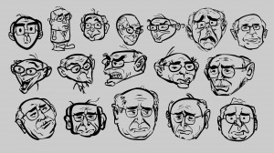 Quick sketches of ex-PM John Howard