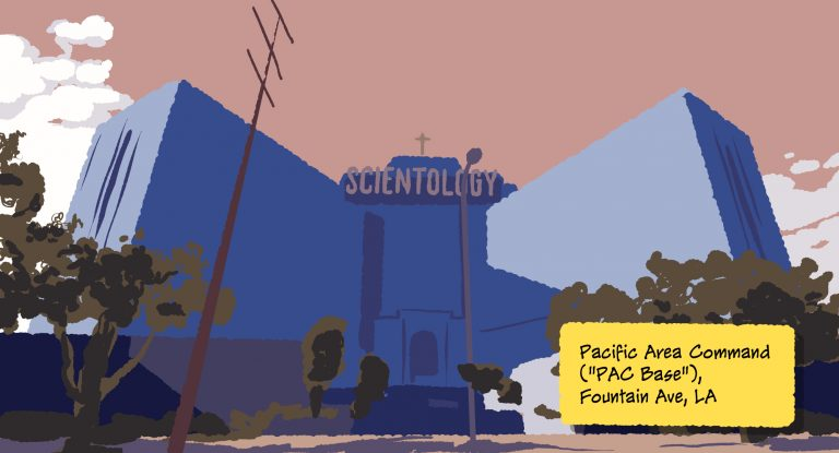 Scientology's PAC Base, Fountain Ave, Los Angeles