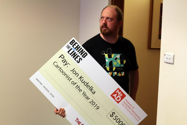 I attempt to steal Jon Kudelka's novelty cheque