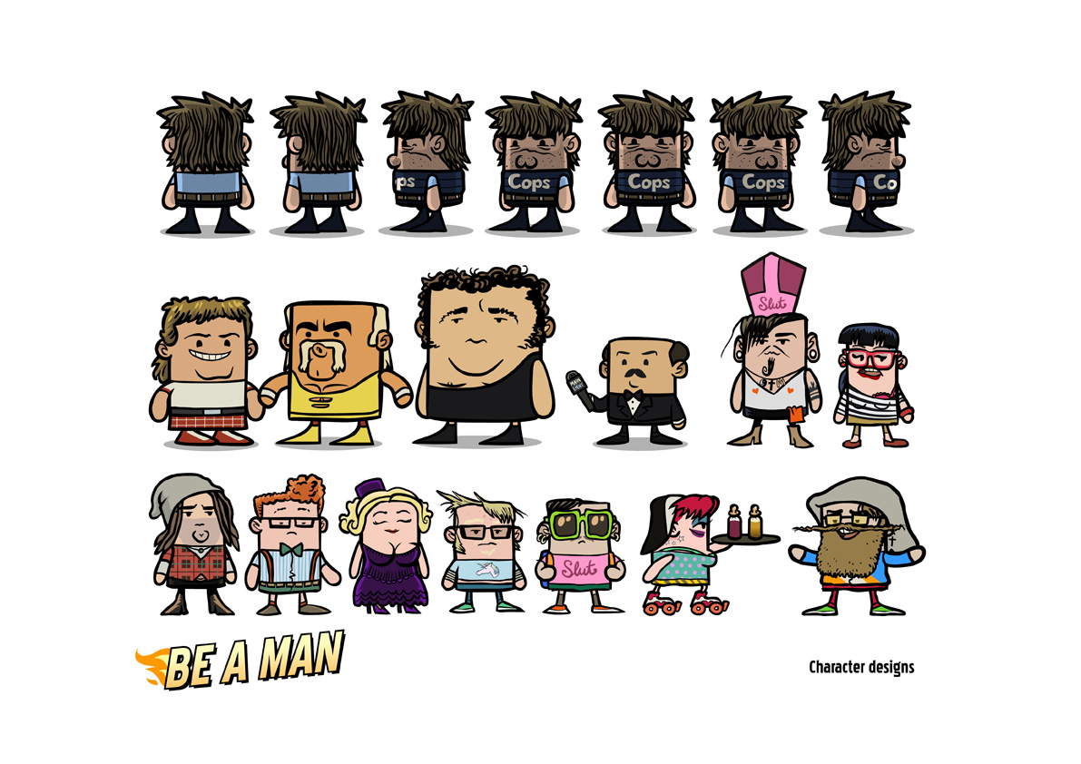 Be A Man character design.
