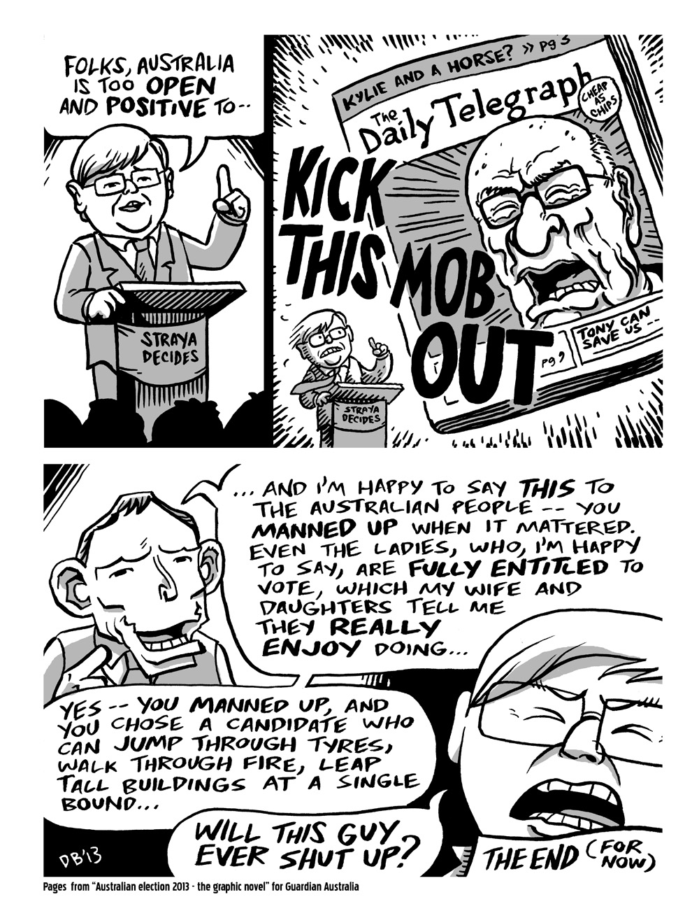 Comics about the 2013 federal election for The Guardian.