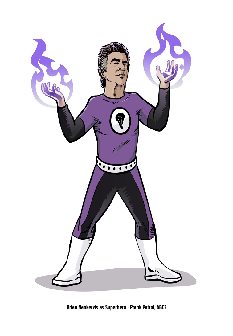 Brian Nankervis as a Superhero